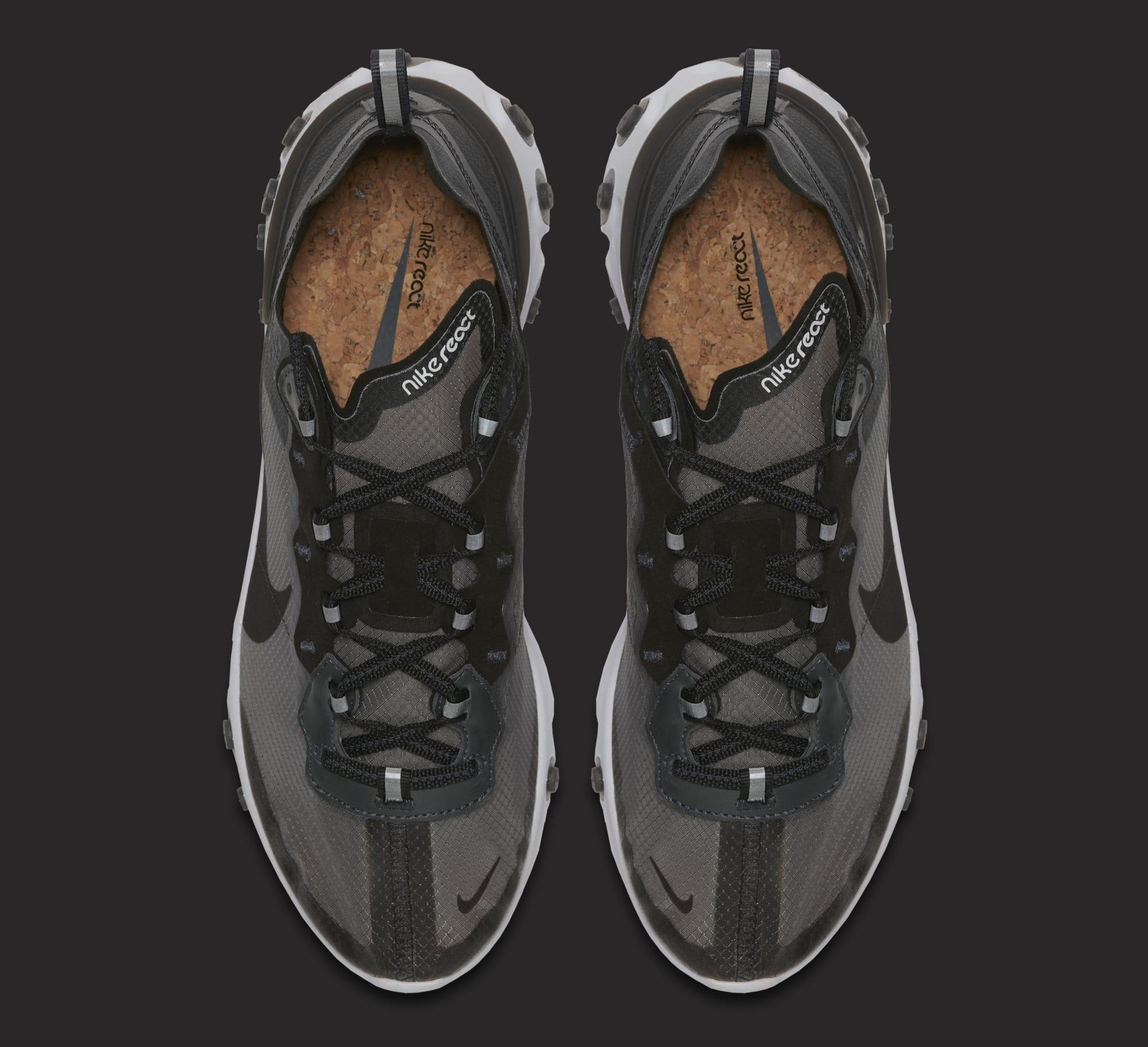 Nike React Element 87 'Anthracite/Black/White' AQ1090-001 (Top)