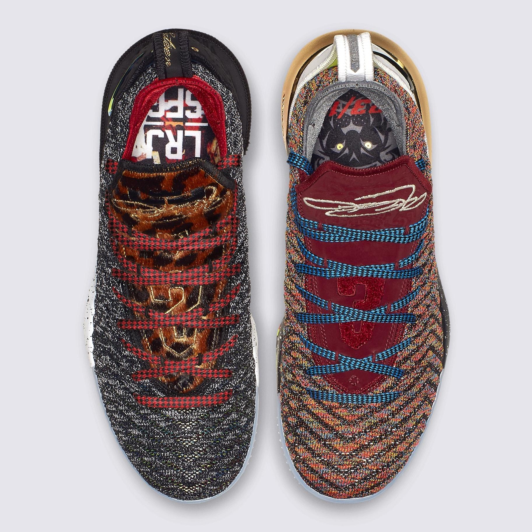 Nike LeBron 16 What The 1 Thru 5 Release Date BQ6580-900 Top