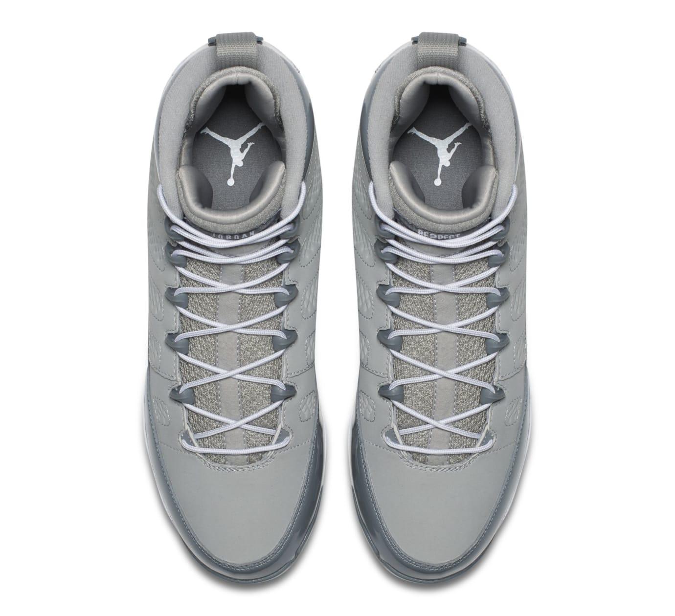 Air Jordan 9 IX MCS Baseball Cleats Cool Grey Top