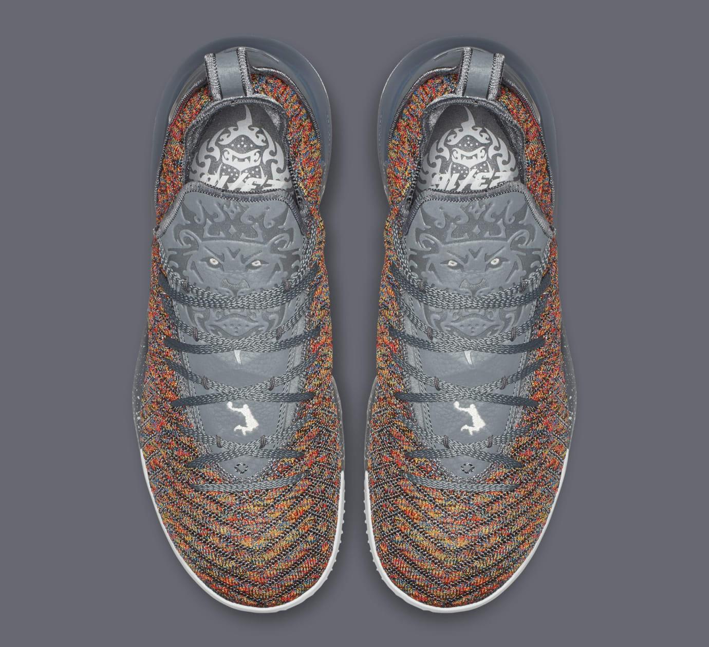 d2d6f50787d Image via Nike Nike LeBron 16  Multicolor  BQ5969-900 (Top)
