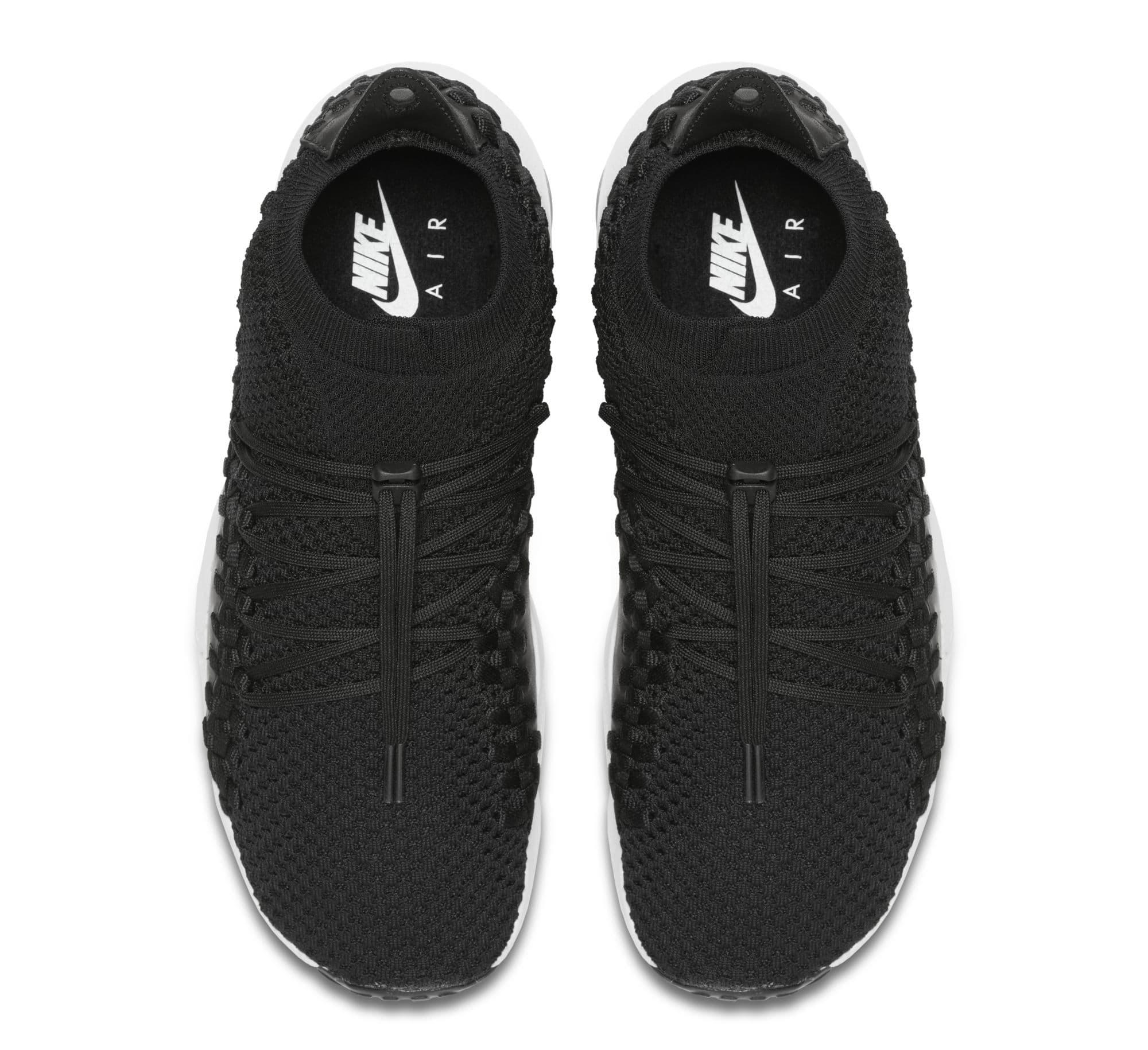 Nike Footscape Woven Chukka Flyknit 'Black' AO5417-001 (Top)
