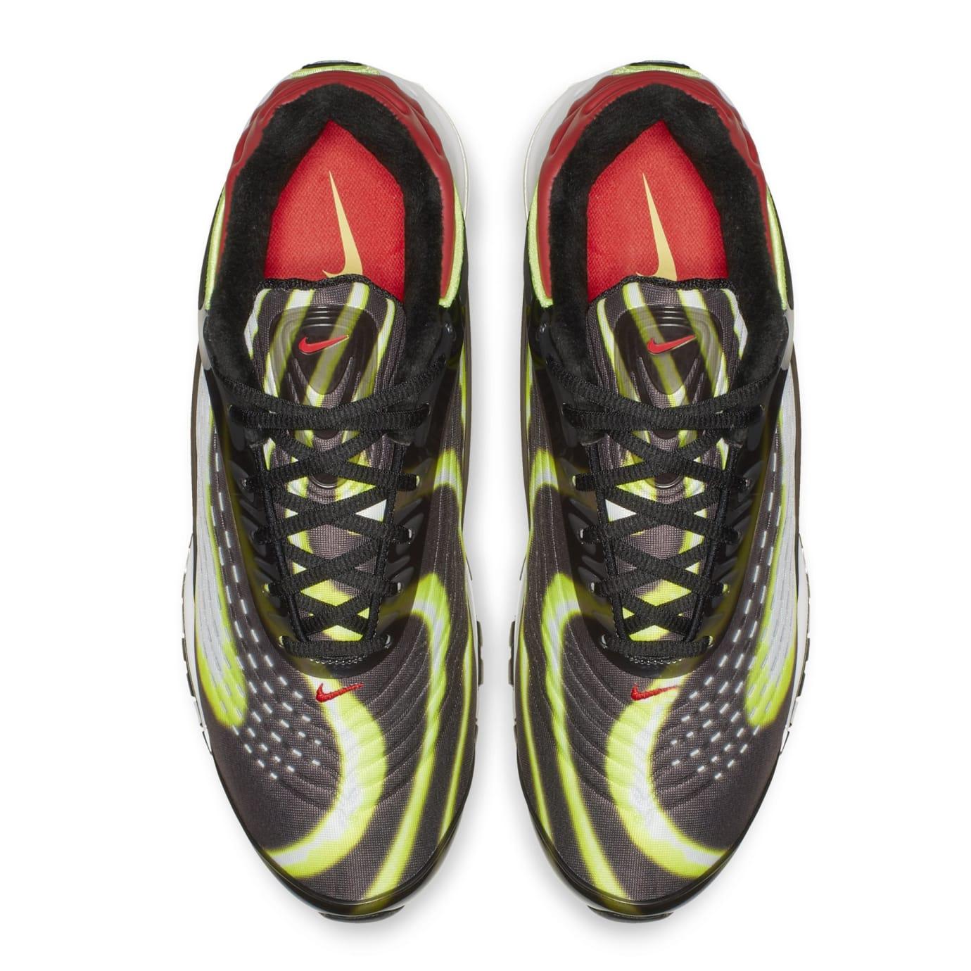 170e5ce6f9c Image via Nike Nike Air Max Deluxe  Black Volt-Habanero-Red-White  AJ7831