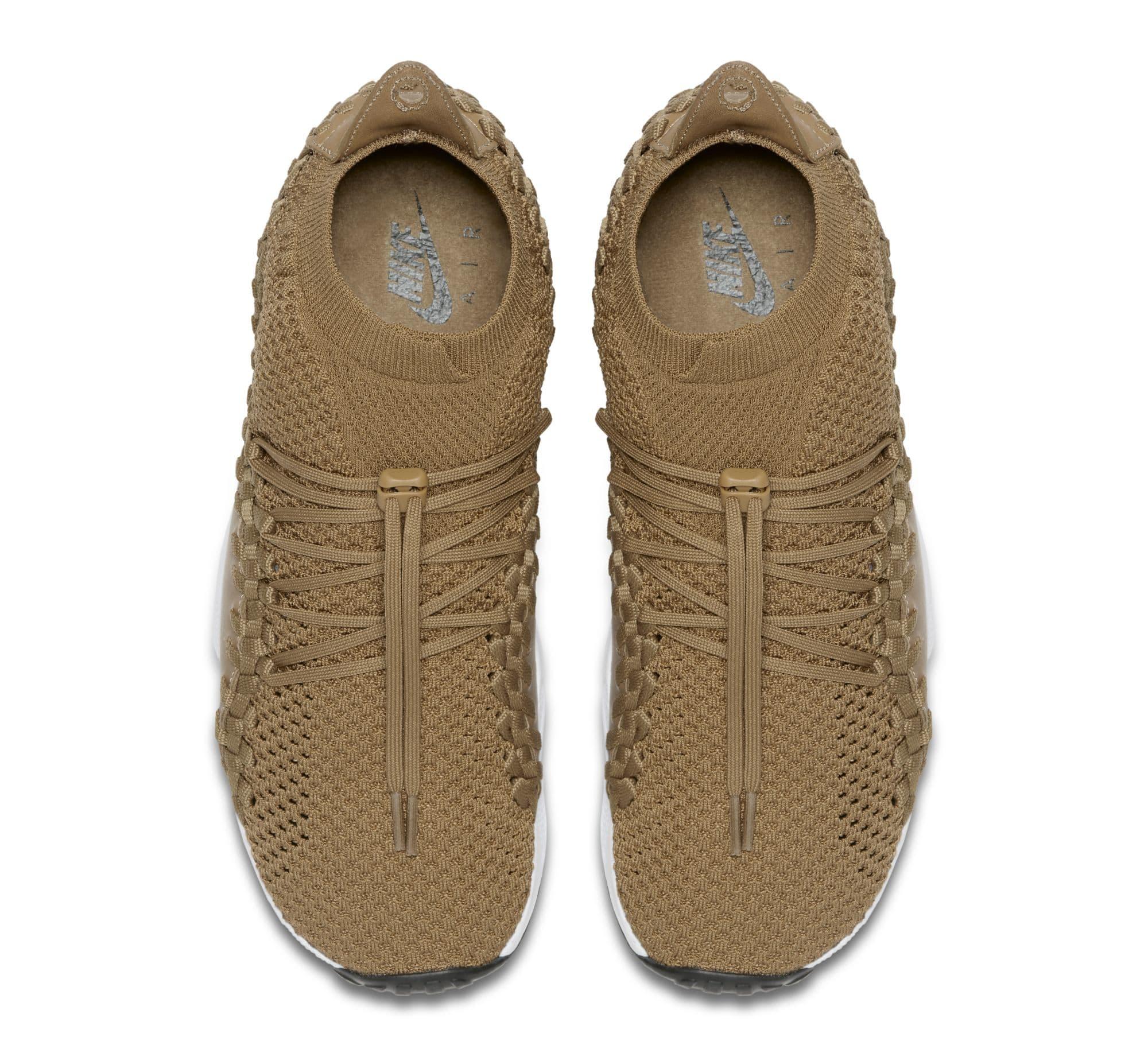 Nike Footscape Woven Chukka Flyknit 'Golden Beige' AO5417-400 (Top)