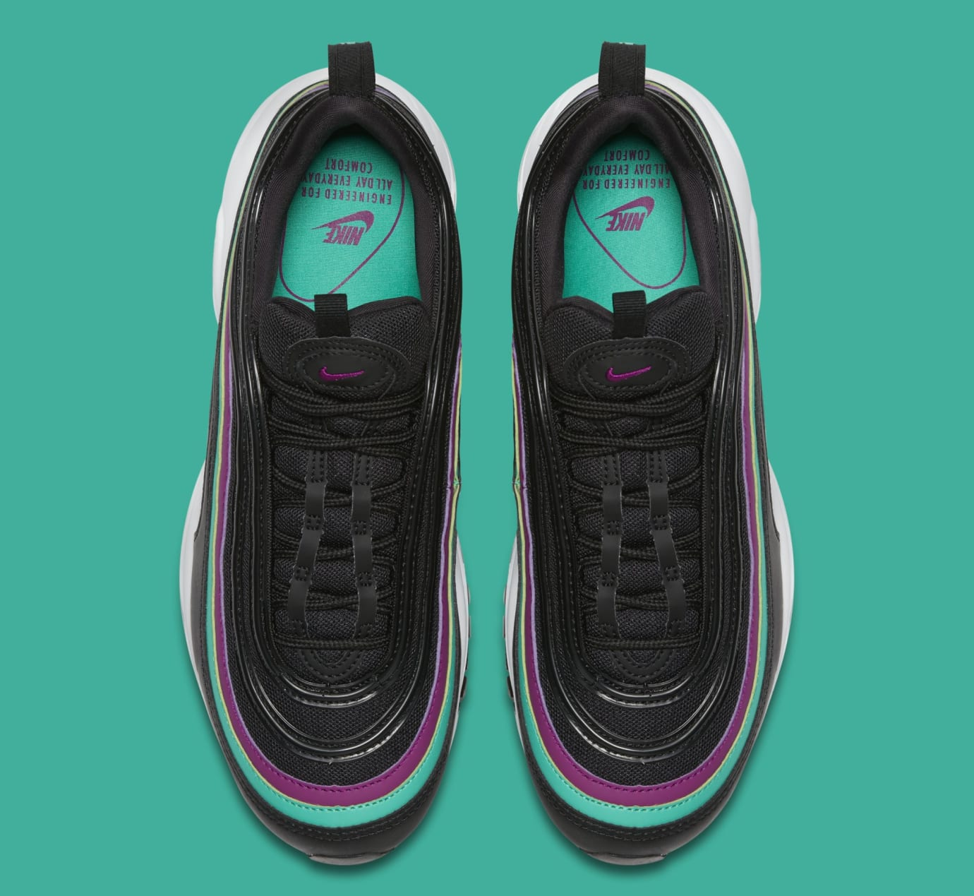Nike Air Max 97 WMNS 'Black/Bright Grape/Clear Emerald' 921733-008 (Top)