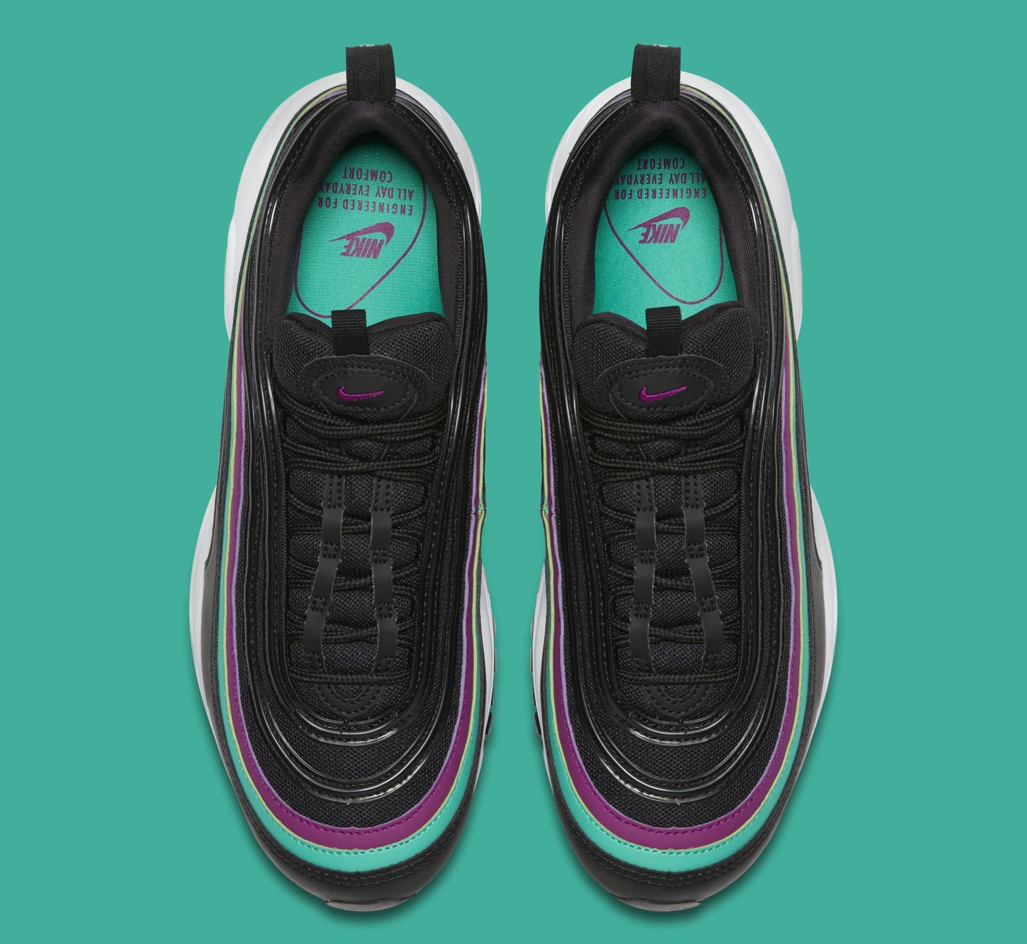 Nike Air Max 97 WMNS 'Black/Bright Grape/Clear Emerald' 921733-008 (Top)