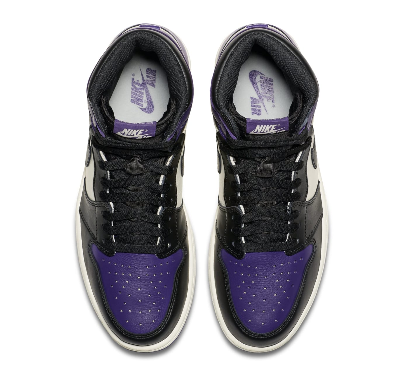 Image via Nike Air Jordan 1 High OG  Court Purple  555088-501 (Top) c484f10e7