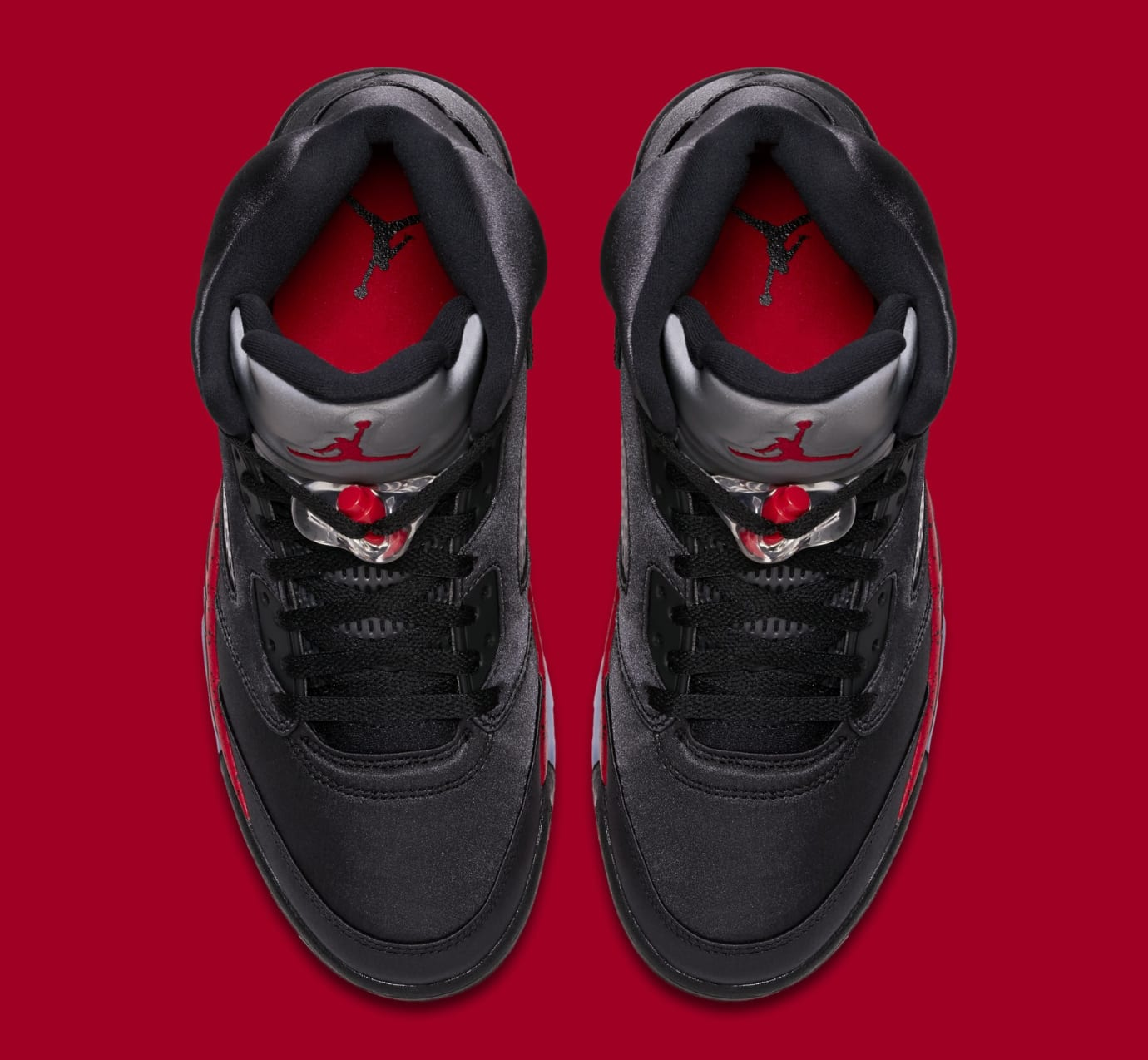2b262b73eab7e1 Image via Nike Air Jordan 5 Retro  Black University Red  136027-006 (Top)