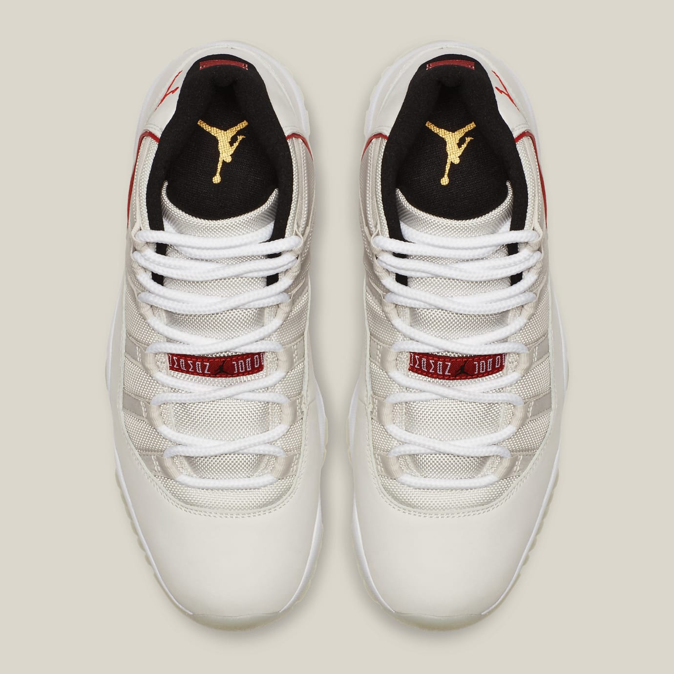 separation shoes 62484 49953 Image via Nike Air Jordan 11 XI Platinum Tint Release Date 378037-016 Top