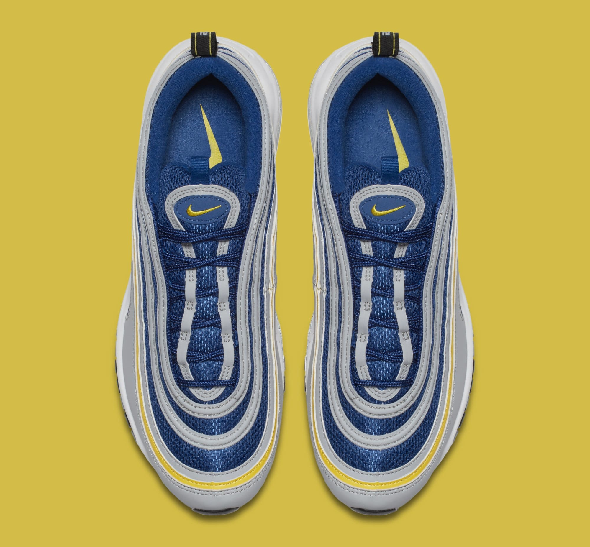 Nike Air Max 97 'Wolf Grey/Tour Yellow/Gym Blue' 921826-006 (Top)