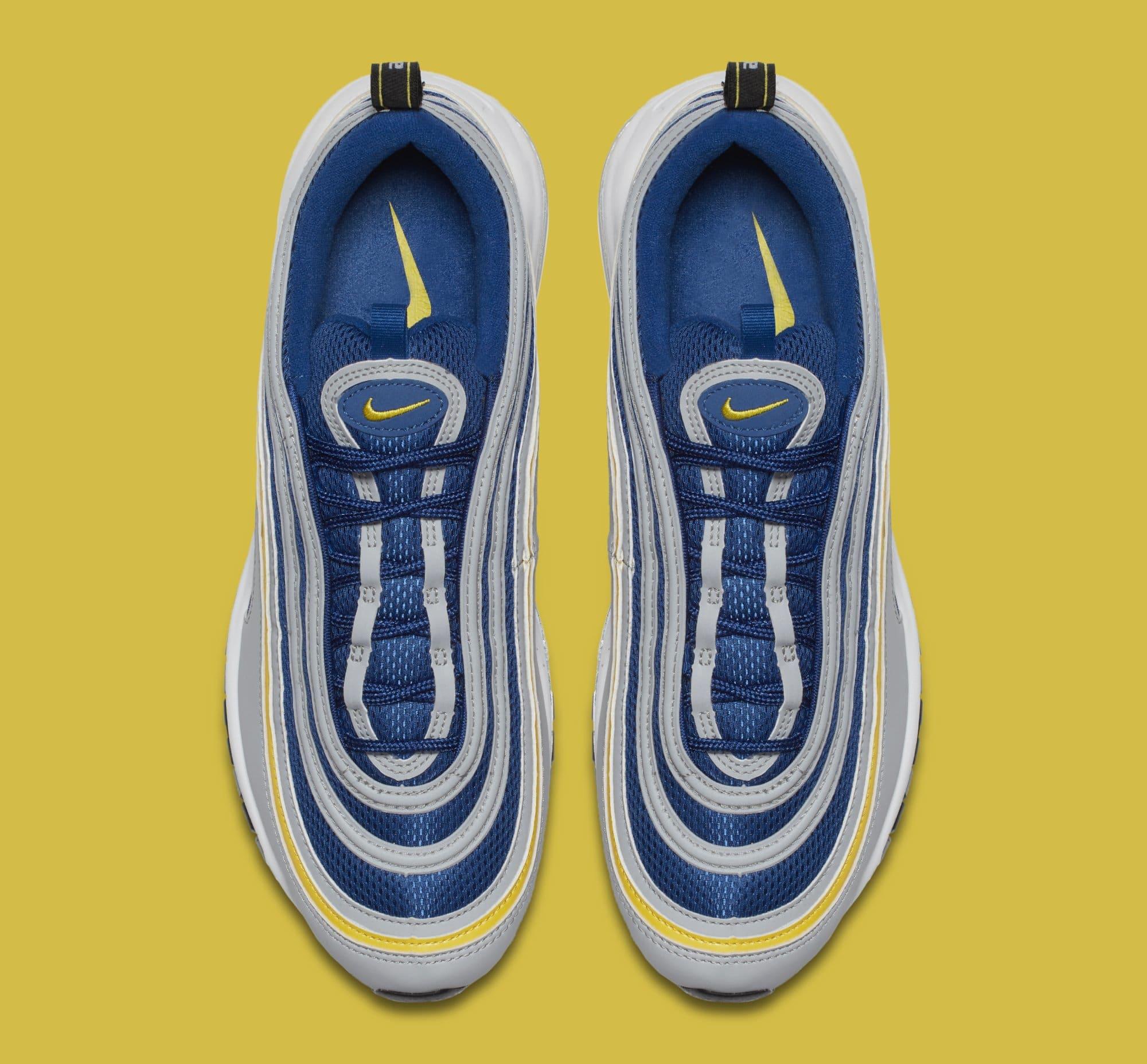Nike Air Max 97 'Wolf Grey/Tour Yellow/Gym Blue' 921826-006 (Top)