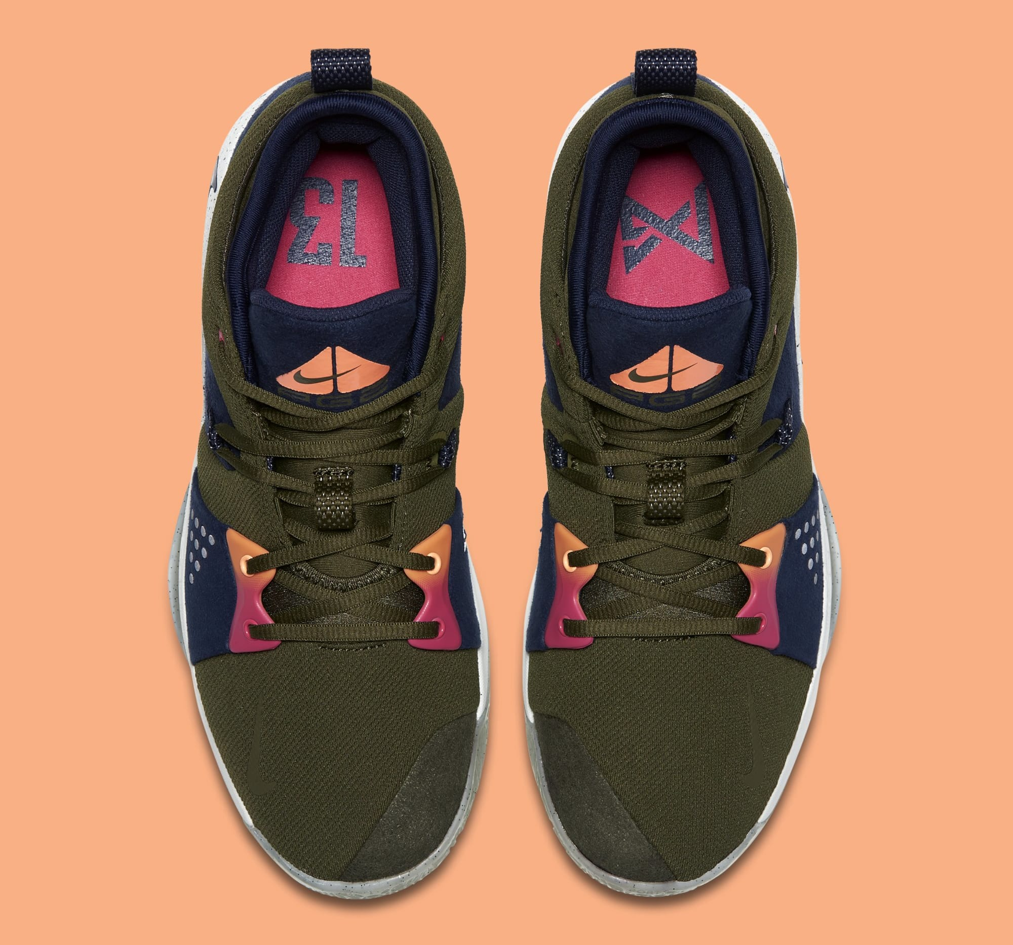 Nike PG2 'Olive Canvas/Obsidian-Light Silver' (Top)