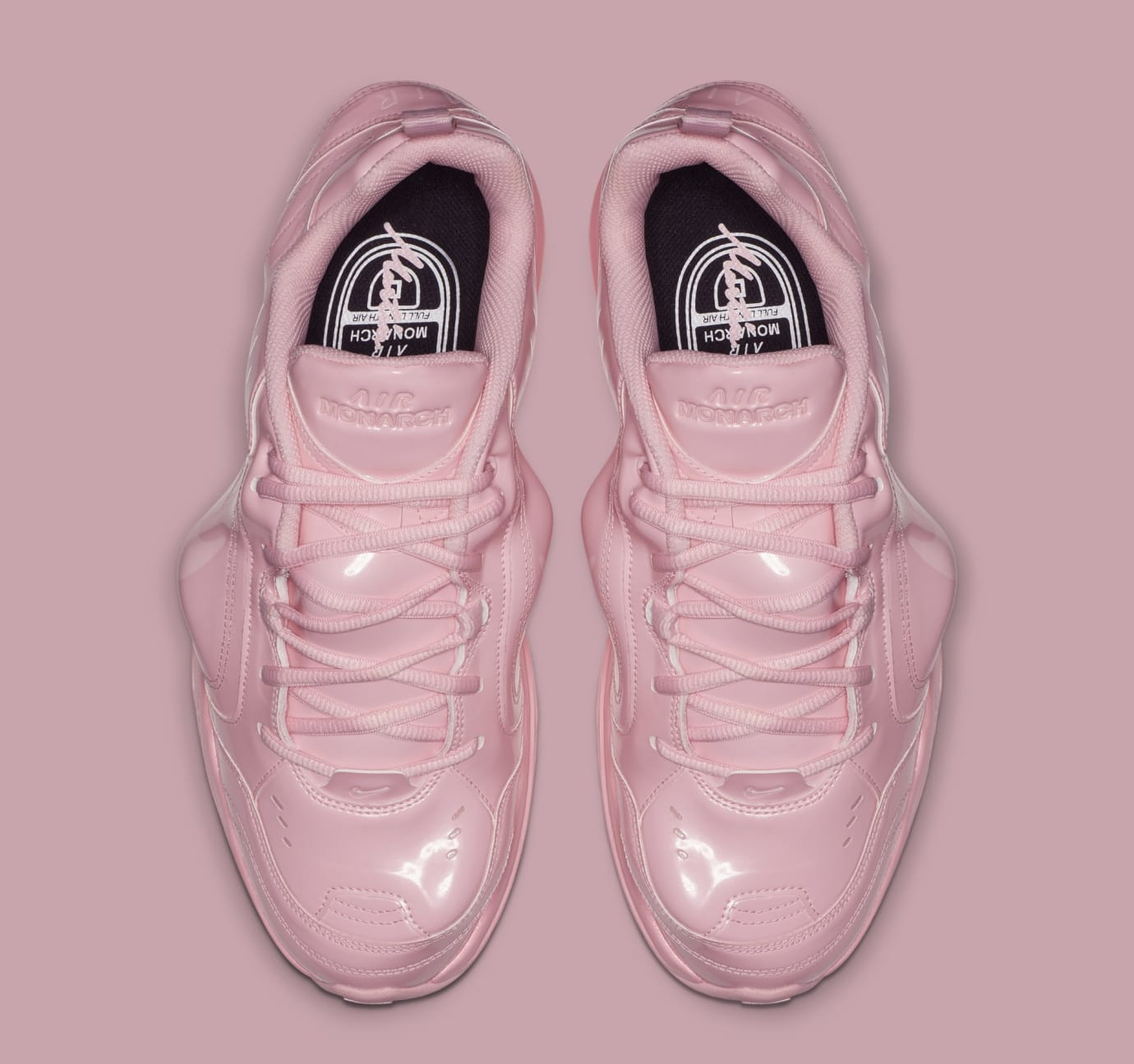 5c2024383b0 Image via Nike Martine Rose x Nike Air Monarch 4  Medium Soft Pink   AT3147-600 (