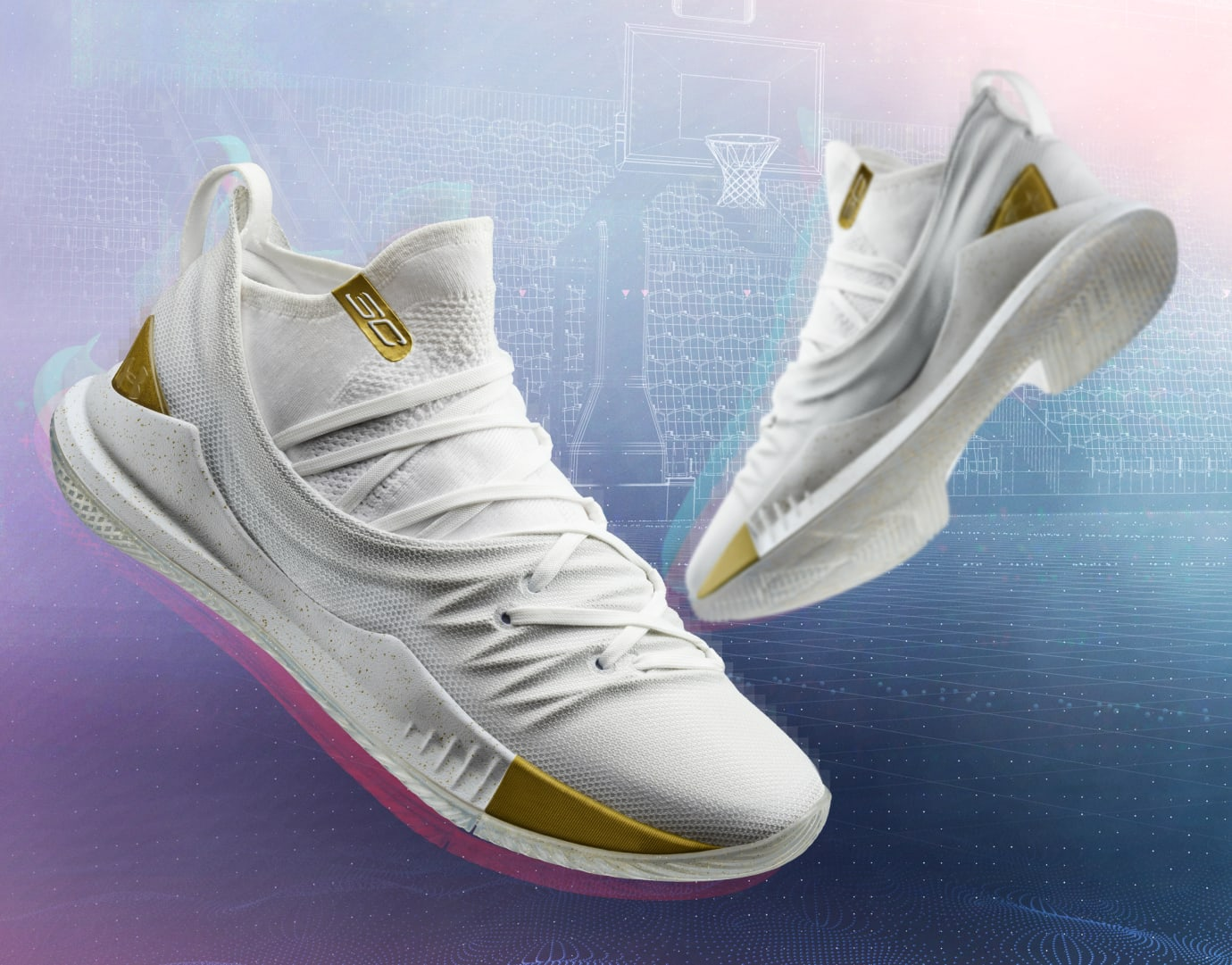 Under Armour Curry 5 'Takeover Edition 2' White (Pair)