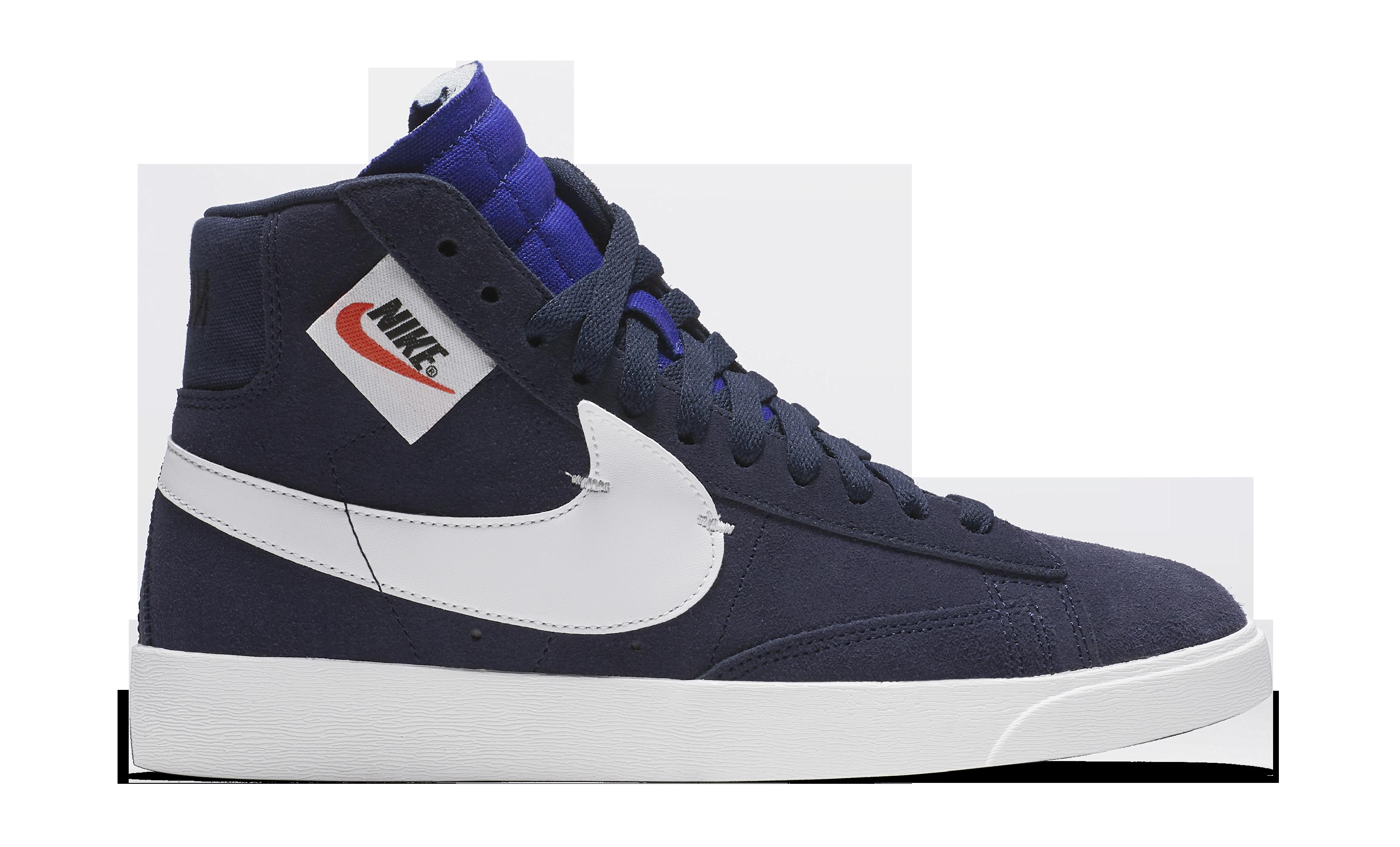 Nike WMNS Blazer Rebel 'Blackened Blue' BQ4022-401 (Lateral)
