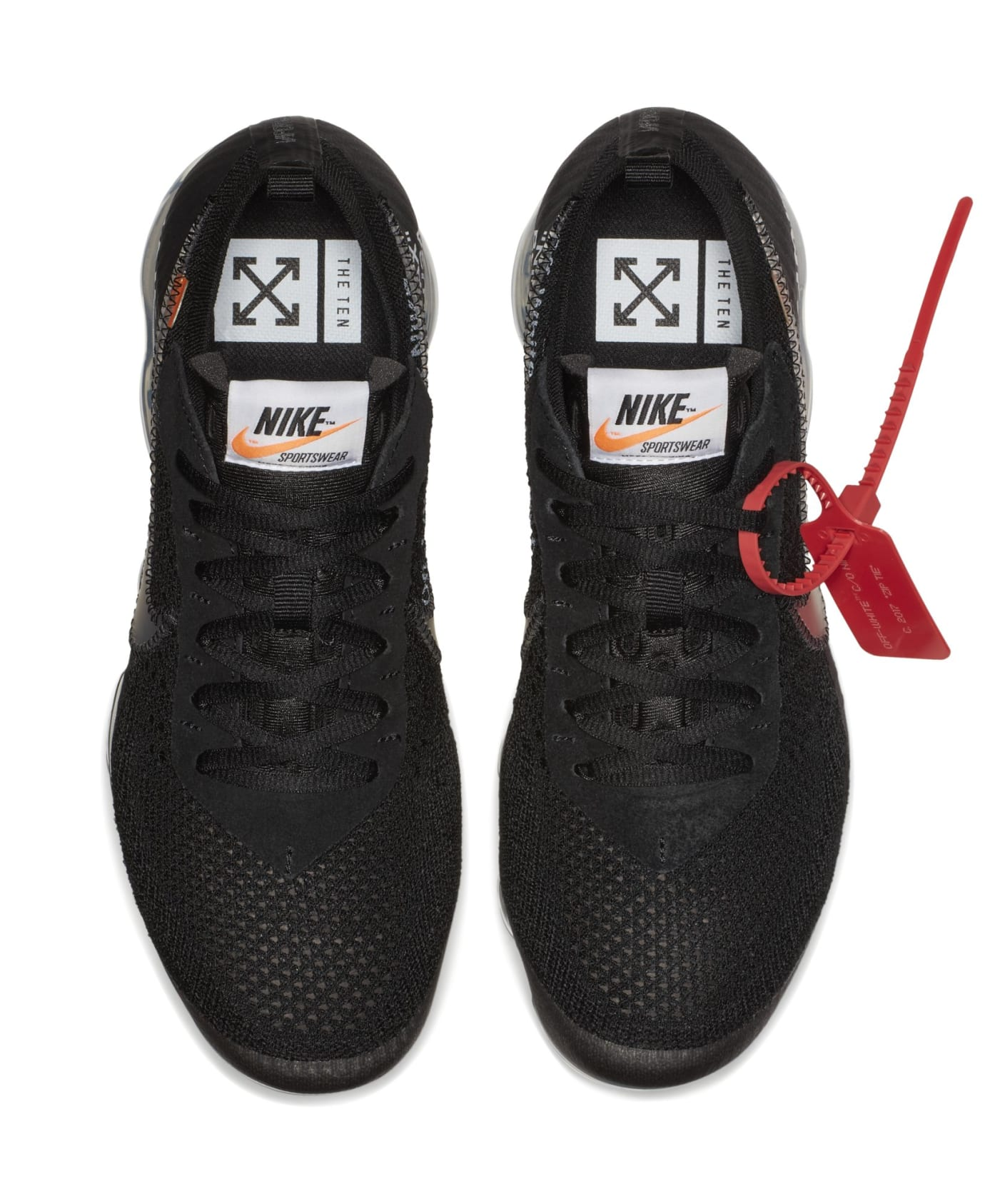 Off-White x Nike Air VaporMax 'Black' AA3831-002 (Top)