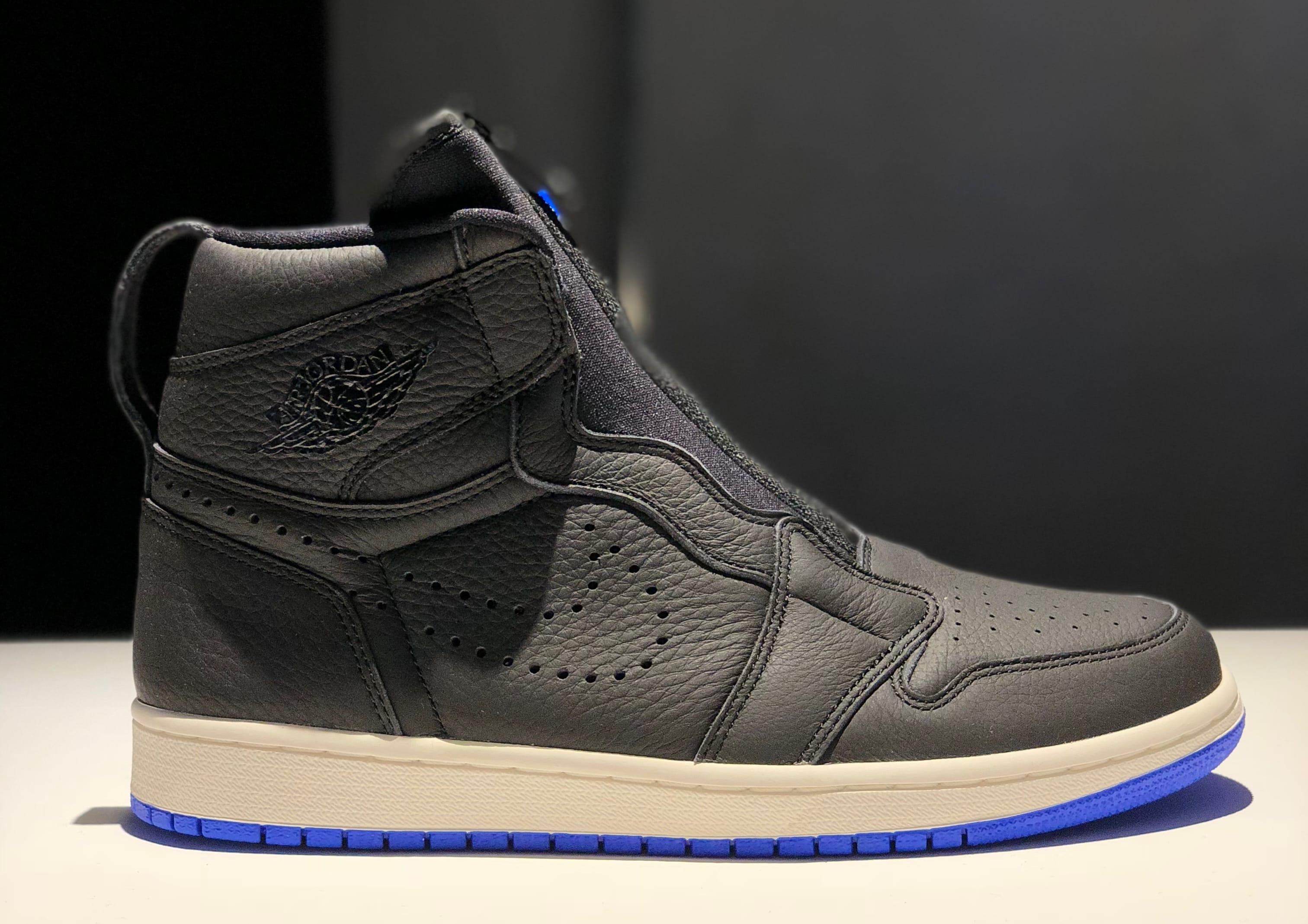 Air Jordan 1 High Zip Men's Black/Royal