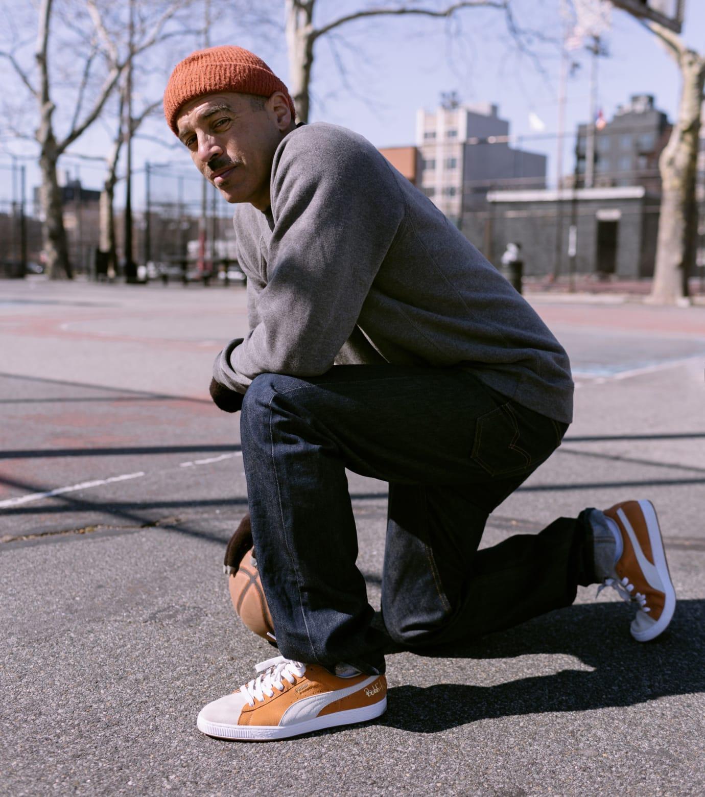 Bobbito x Puma Suede 50 (Orange/White On-Foot)
