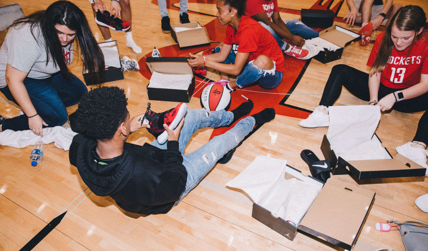Patricia E. Paetow High School Students With Jordan CP3.XI Sneakers