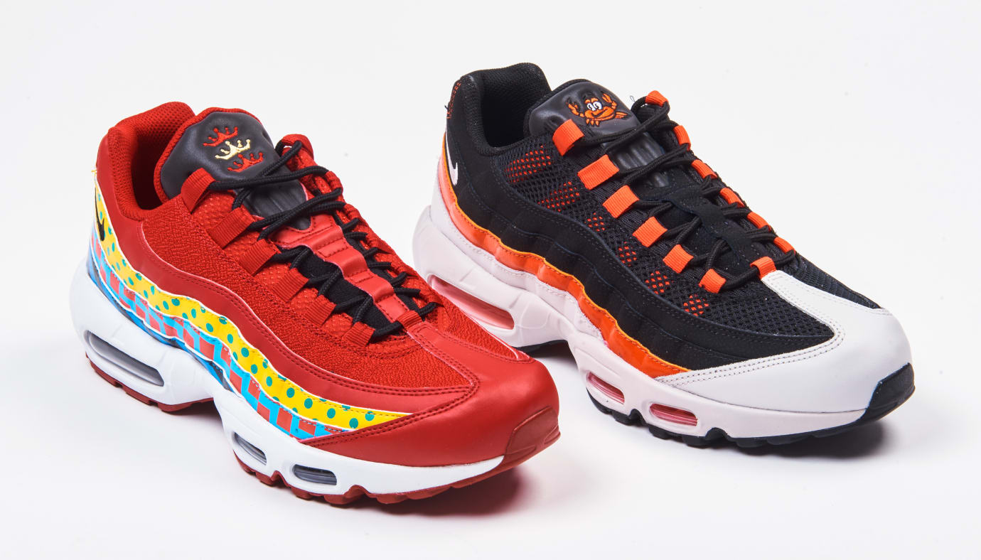 watch d957c f26df Nike Air Max 95 Baltimore  Home and Away  Pack 1 Image via Foot Locker