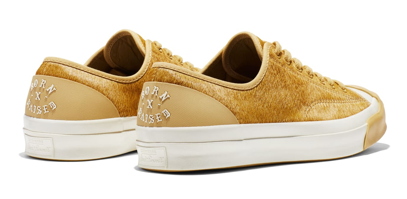 BornxRaised x Converse Jack Purcell 'Camel' (Heel)