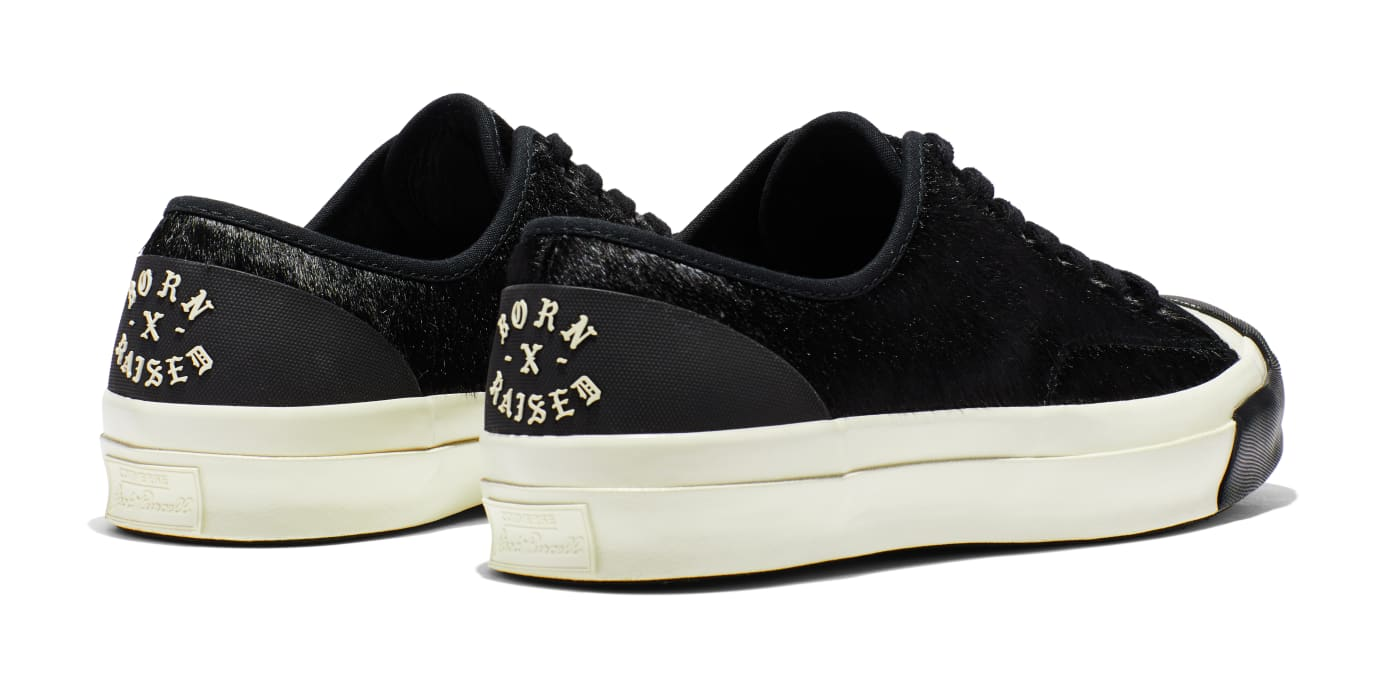 BornxRaised x Converse Jack Purcell 'Black' (Heel)