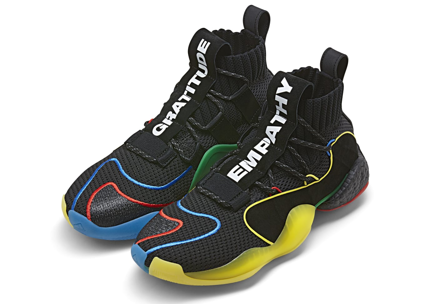 7a942b713c745 Pharrell x Adidas Crazy BYW X  Core Black Green Supplier Color ...