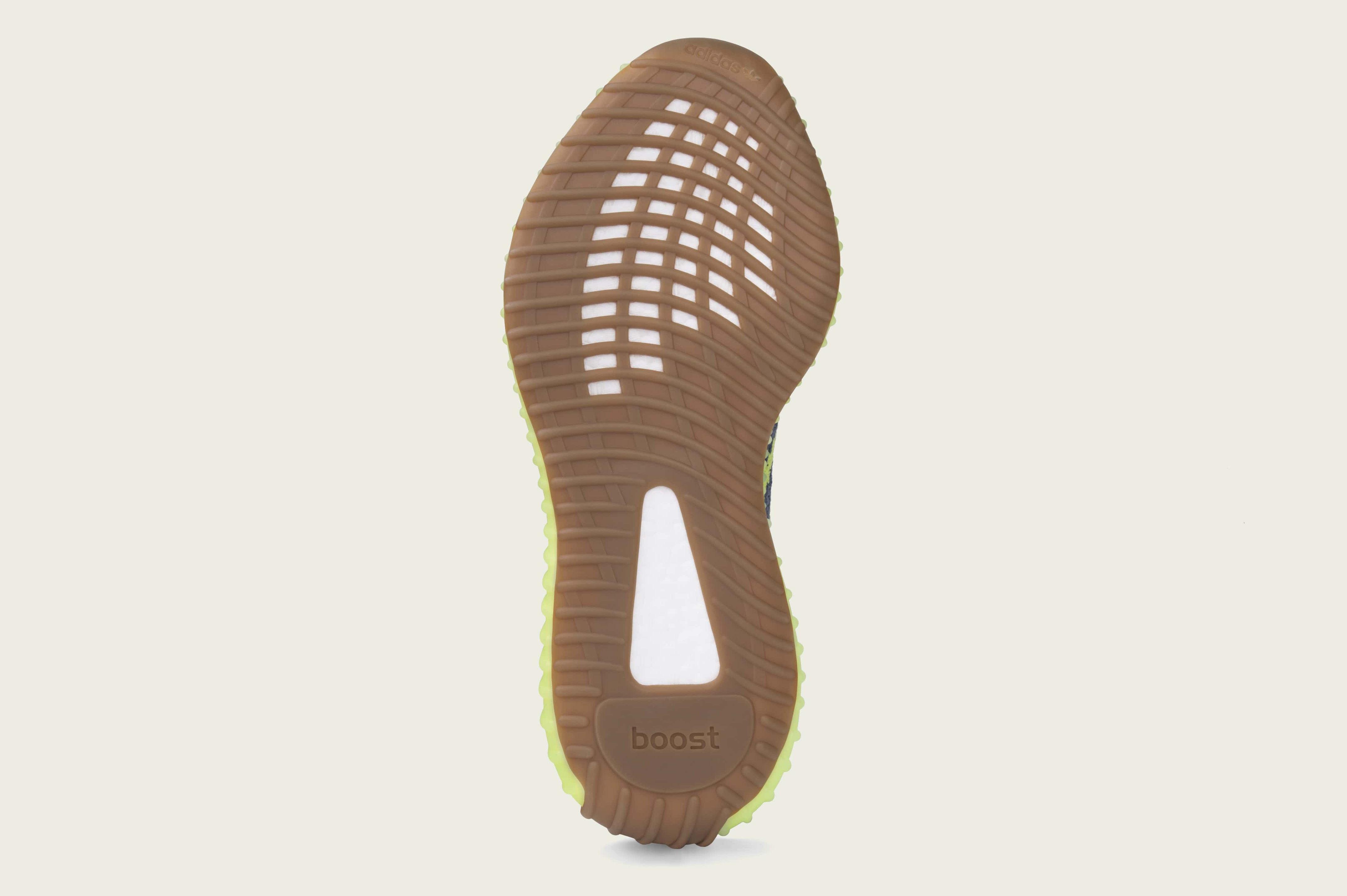 Adidas Yeezy Boost 350 V2 'Semi Frozen Yellow' B37572 (Bottom)