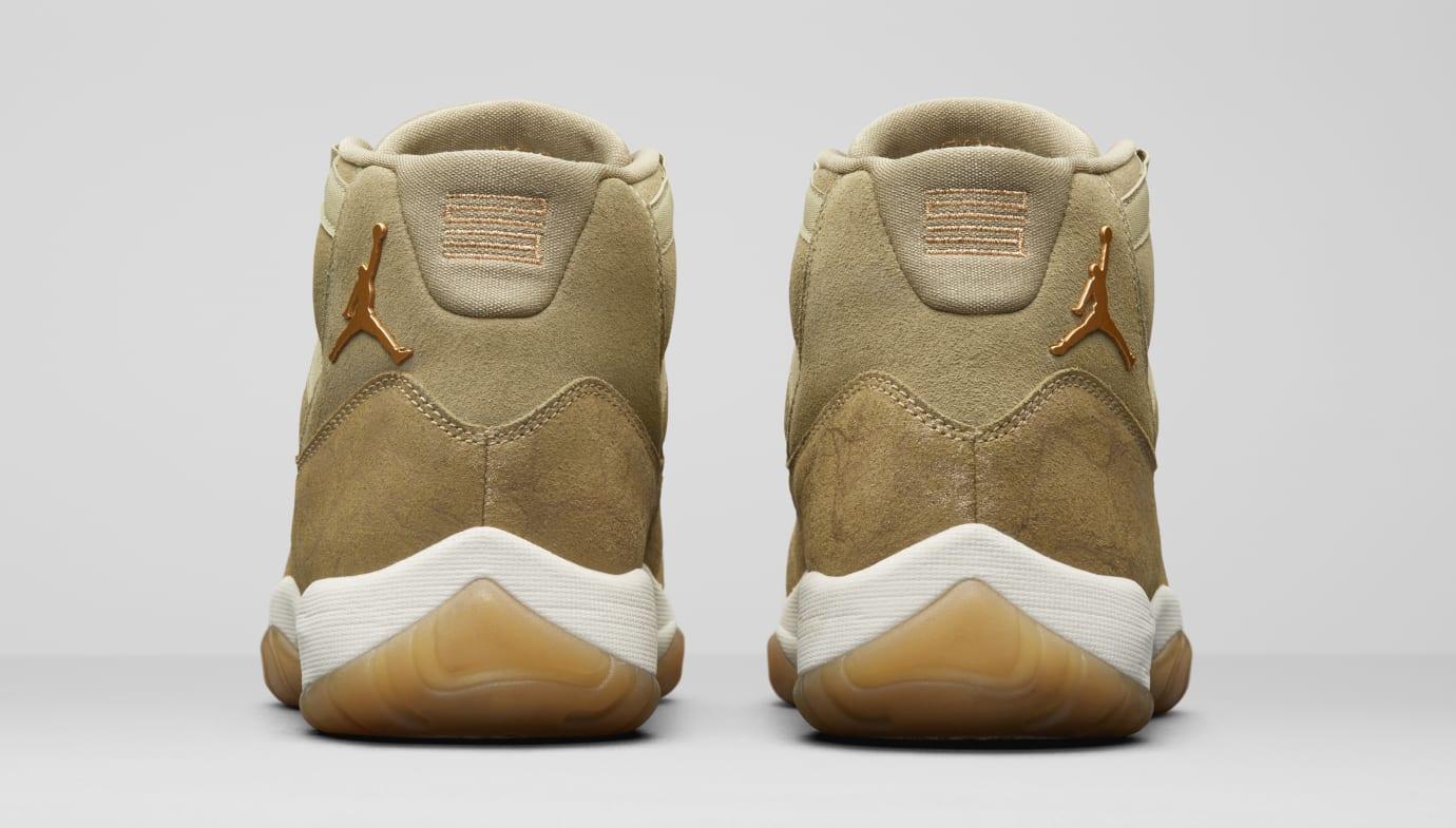 76d328093c0f16 Image via Nike Air Jordan 11  Olive Lux  AR0715-200 (Heel)
