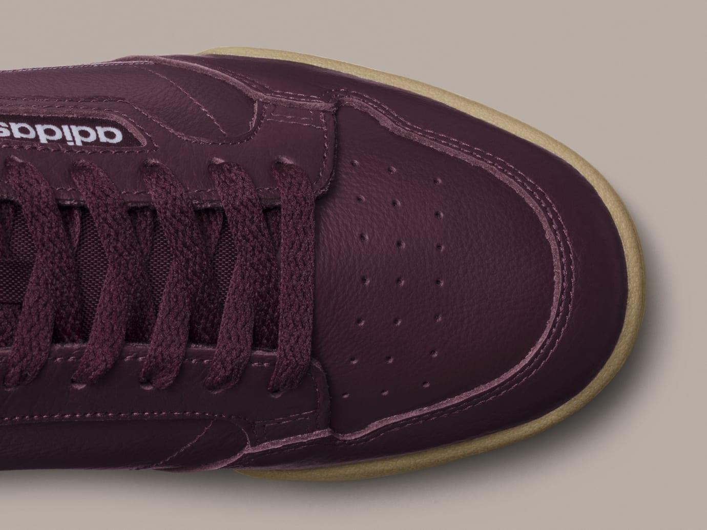 promo code db9b5 2cba4 Image via Adidas Adidas Continental 80 Burgundy B41677 Release Date