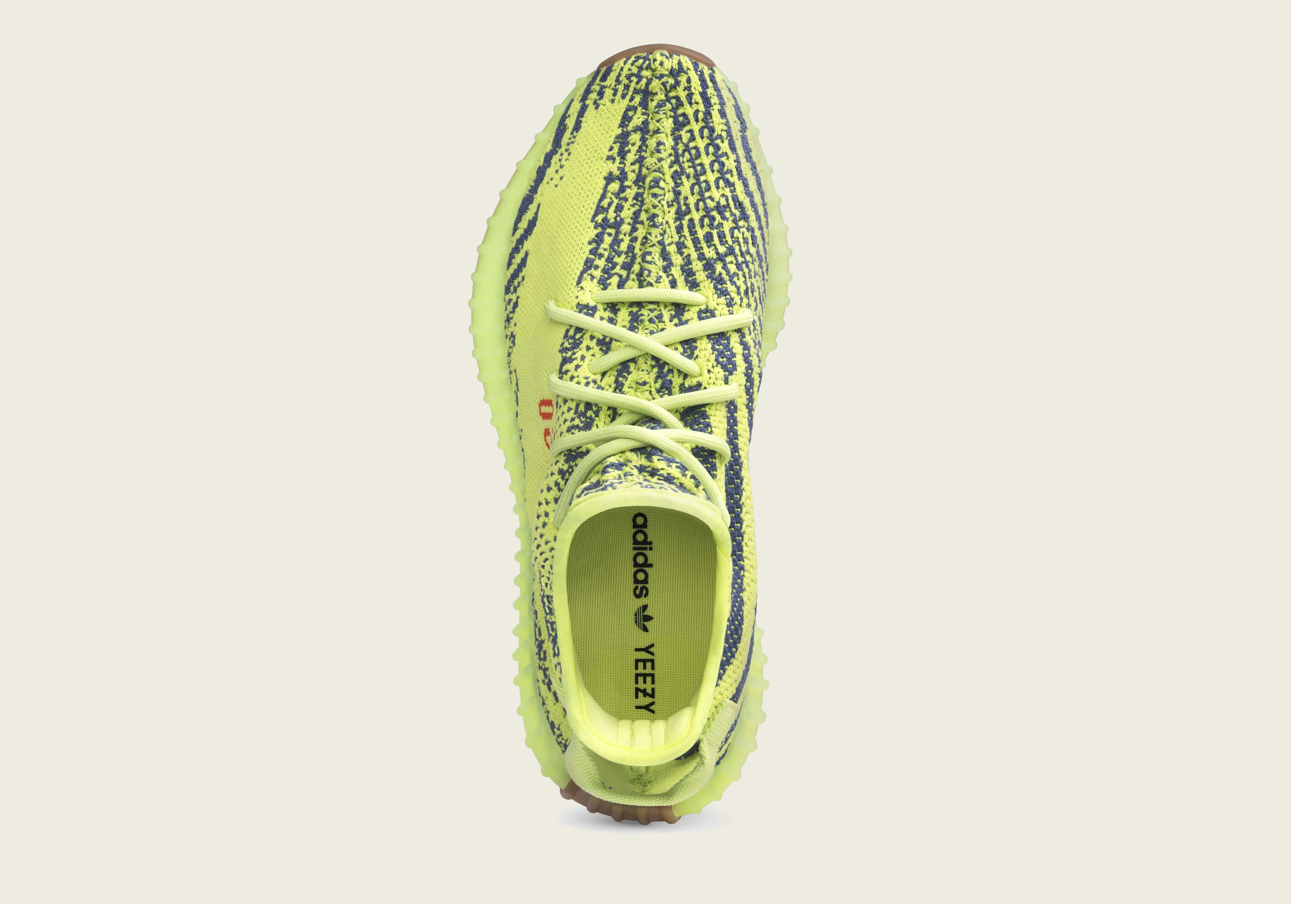 Adidas Yeezy Boost 350 V2 'Semi Frozen Yellow' B37572 (Top)