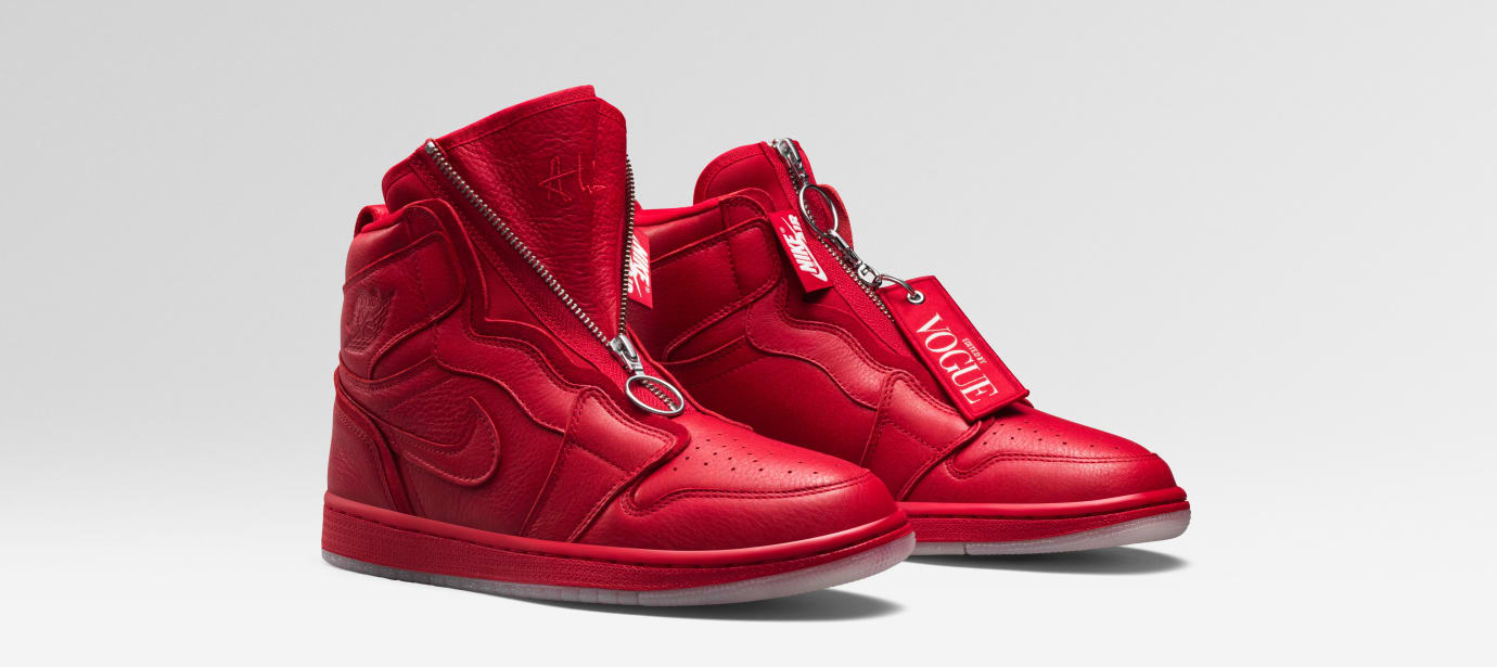 Vogue x Air Jordan 1 Zip AWOK 'University Red'