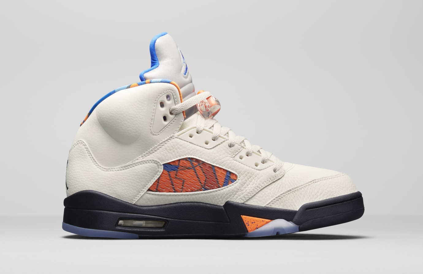 e35869ae76a9 Air Jordan 5 V Sail Orange Peel Black Hyper Royal Release Date ...