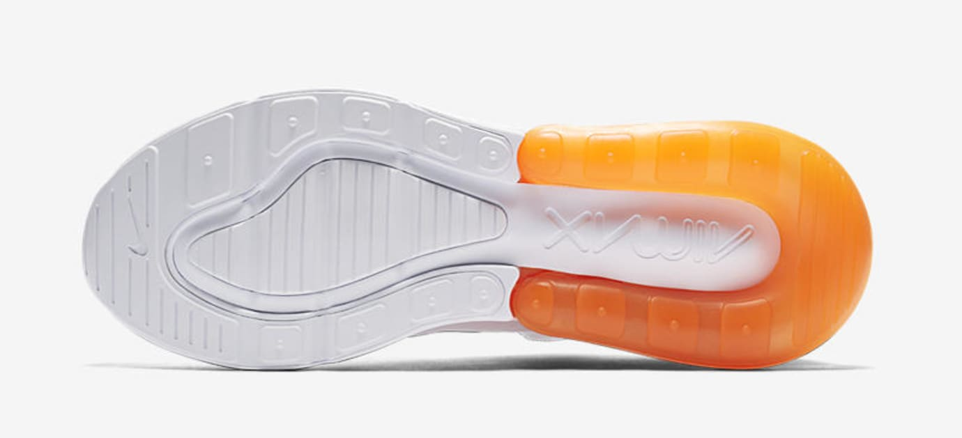 Nike Air Max 270 'White Pack/Total Orange' AH8050-102 (Bottom)