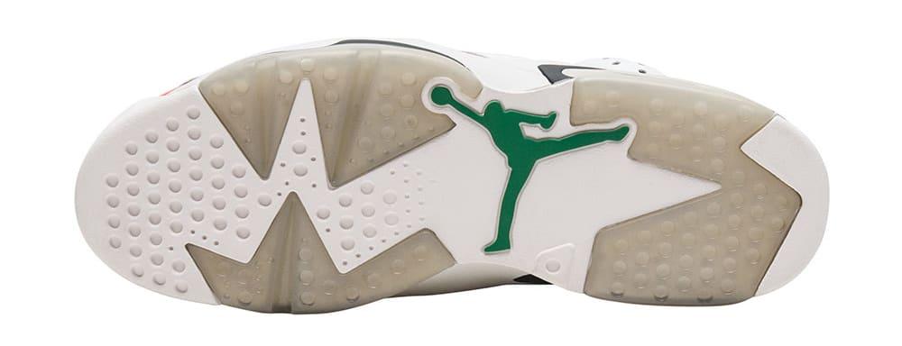 Air Jordan 6 VI Gatorade Release Date Sole 384664-145