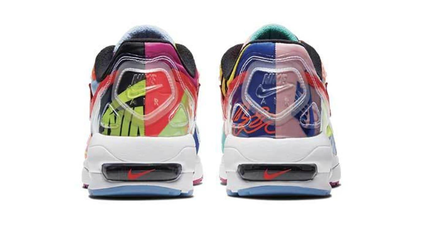 Atmos x Nike Air Max2 Light 'Black/Bright Crimson' BV7406-001 (Heel)
