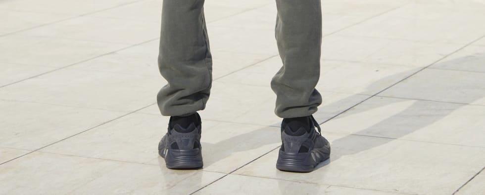Adidas Yeezy Boost 700 'Black' (On-Foot Heel)