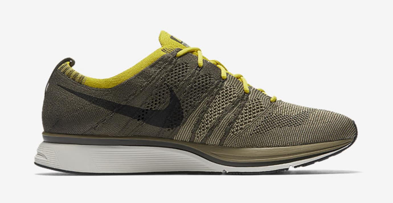 2d07cf6ed28e9 ... low cost image via nike nike flyknit trainer cargo khaki bright citron  ah8396 300 medial bc5de netherlands nike air ...