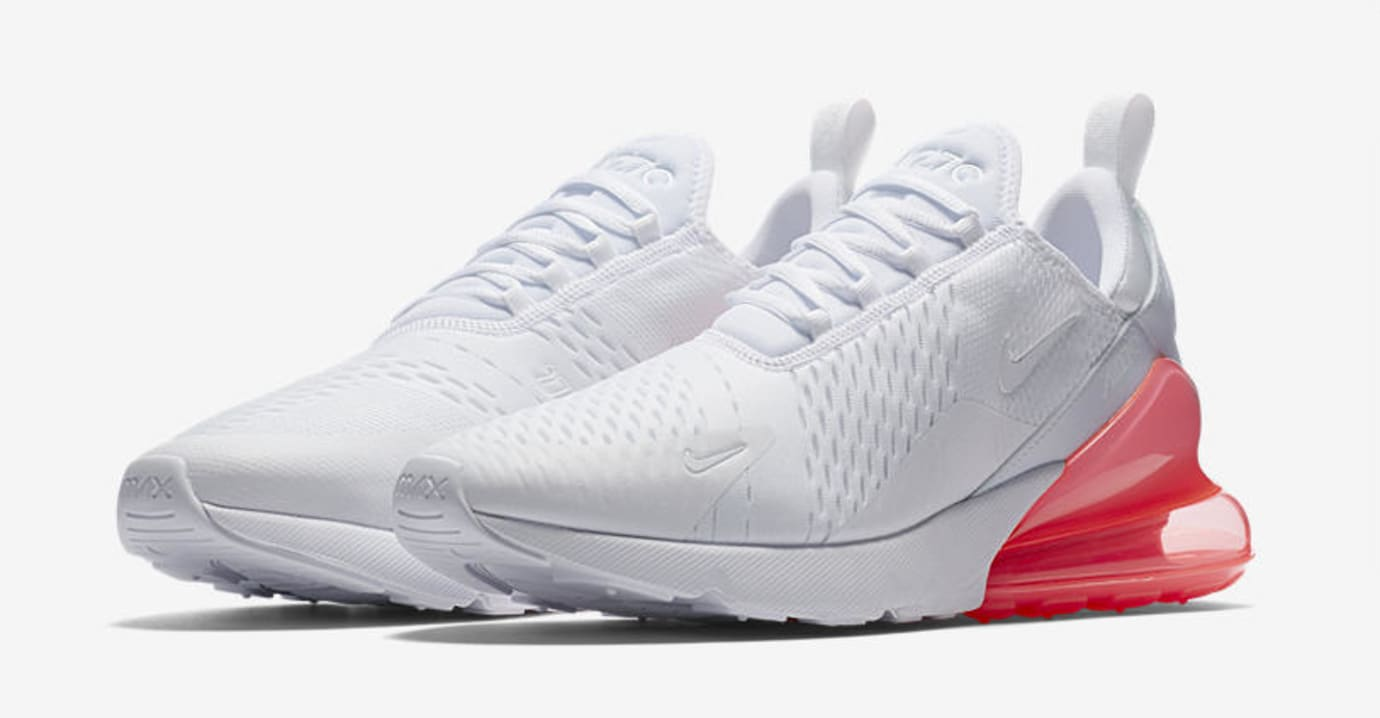 Nike Air Max 270 'White Pack/Hot Punch' AH8050-103 (Pair)