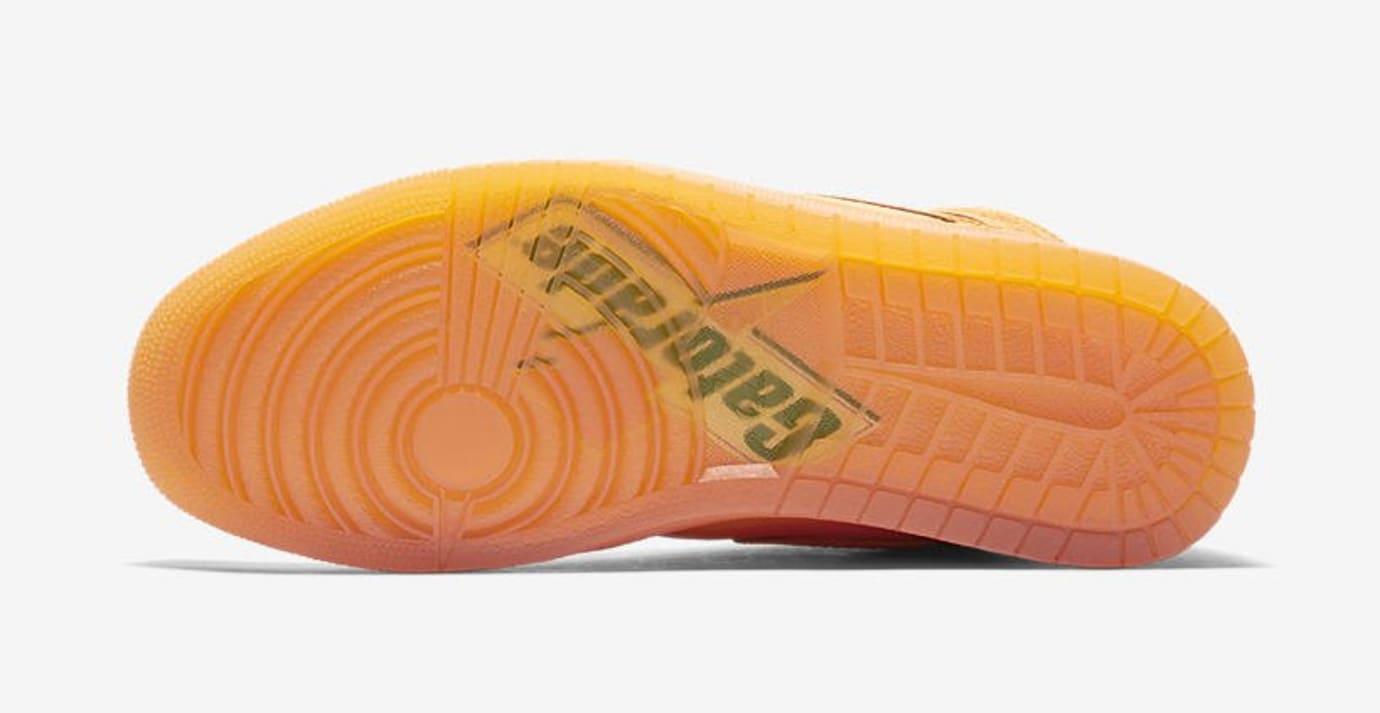 23ed1d69aa3a Air Jordan 1 Gatorade Orange Release Date AJ5997-880 Sole