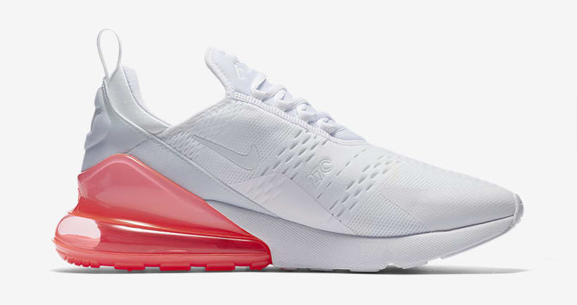 Nike Air Max 270 'White Pack/Hot Punch' AH8050-103 (Medial)