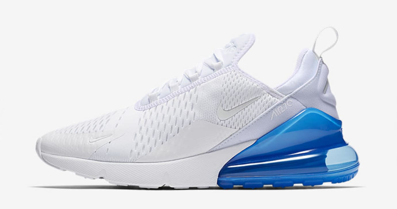 Nike Air Max 270 'White Pack/Photo Blue' AH8050-105 (Lateral)
