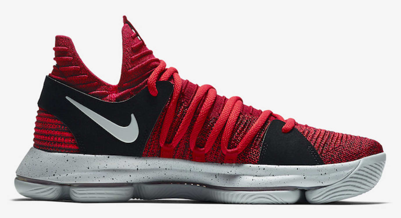 quality design a1afa 1d35e Nike KD 10 University Red Black Release Date Medial 897816-600