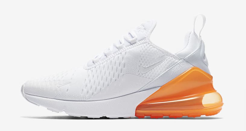 Nike Air Max 270 'White Pack/Total Orange' AH8050-102 (Lateral)