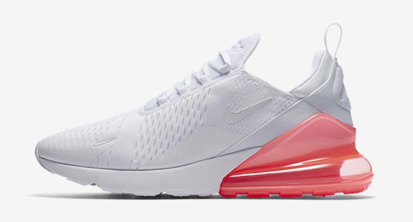 Nike Air Max 270 'White Pack/Hot Punch' AH8050-103 (Lateral)