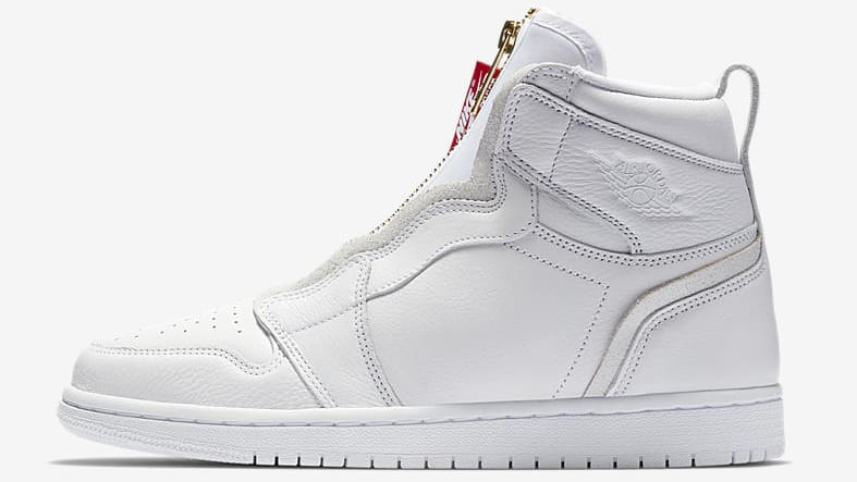 air jordan 1 retro high zip 'white'