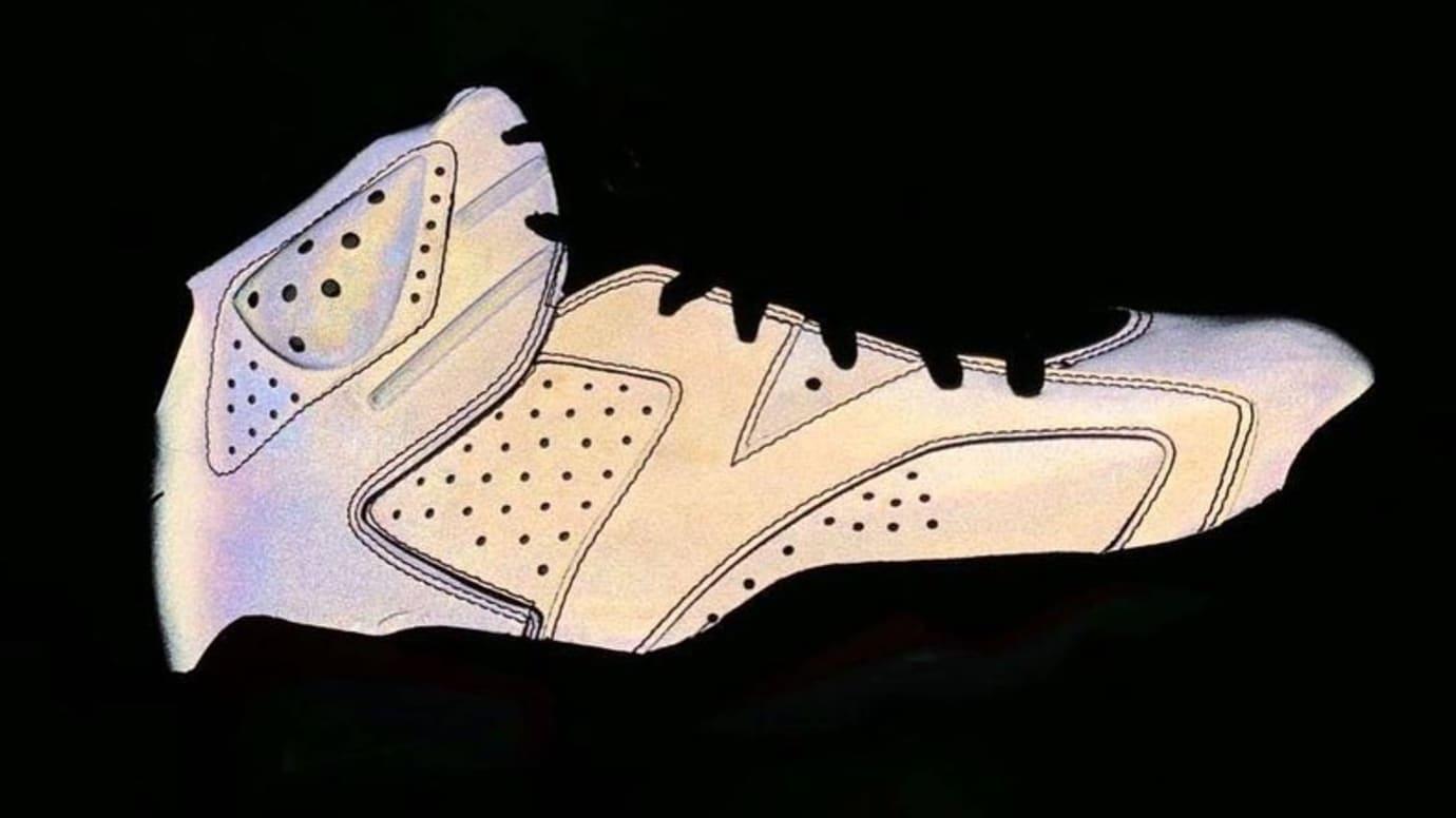 9d8cf4f63cd1fa PSG x Air Jordan 6 Iron Grey Infrared 23-Black 3M Lateral Side