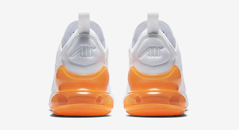 Nike Air Max 270 'White Pack/Total Orange' AH8050-102 (Heel)