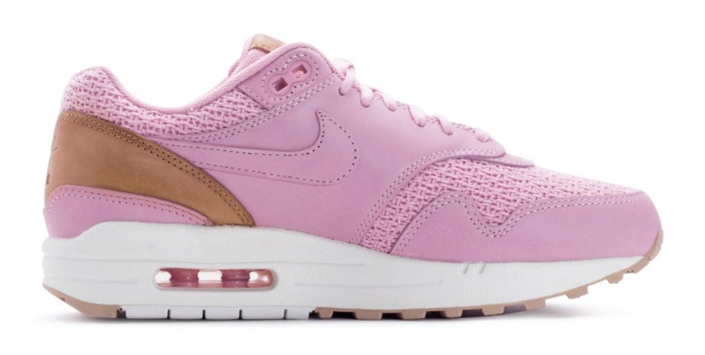 Nike Air Max 1 Premium Women's Pink Glaze Release Date Medial 454746-601