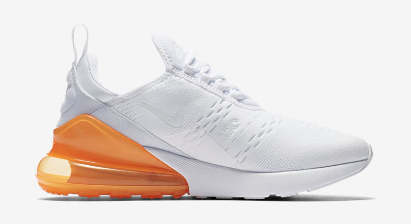 Nike Air Max 270 'White Pack/Total Orange' AH8050-102 (Medial)