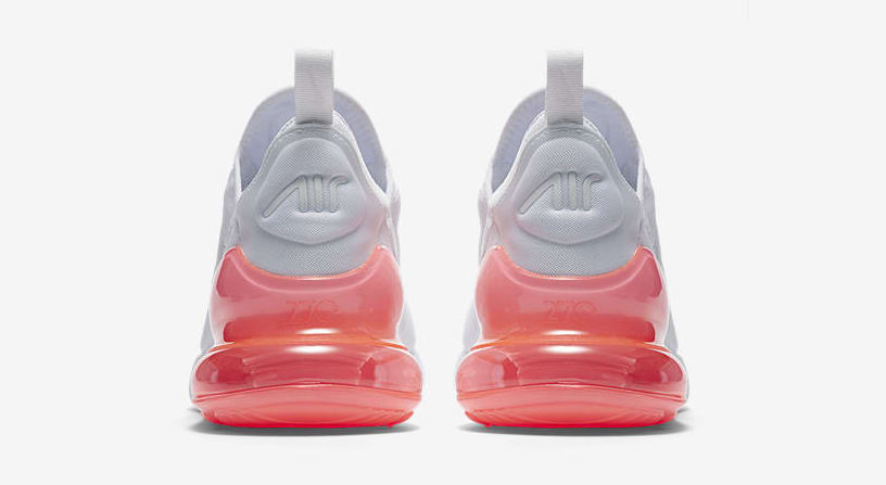 Nike Air Max 270 'White Pack/Hot Punch' AH8050-103 (Heel)